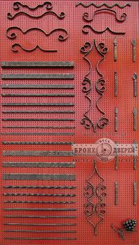 Варианты кованных декоров на двери